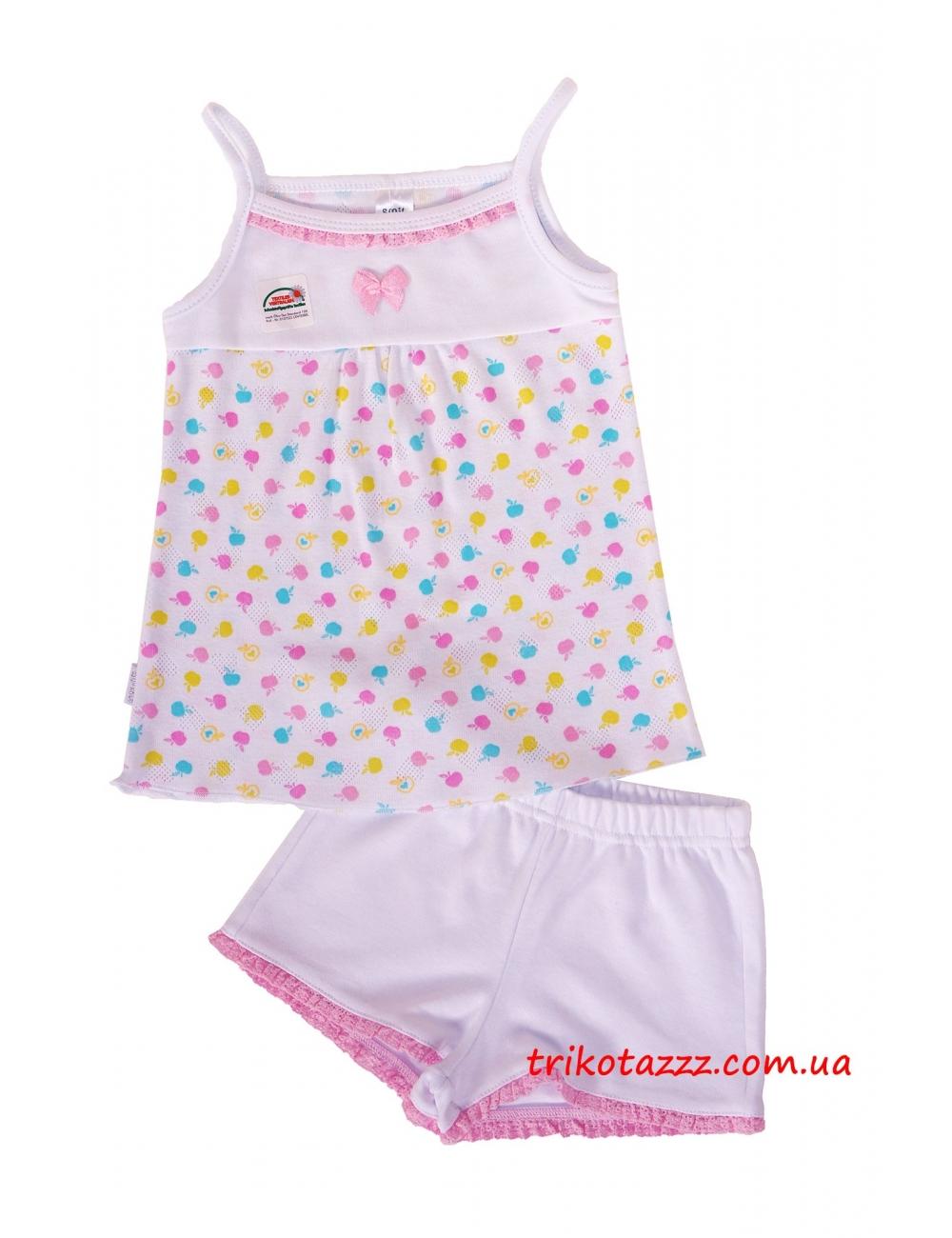 "Пижама для девочки летняя тм""Смил"" белая"