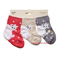 """Носочки для новорожденной девочки 3 шт тм""""Arti"""" Зайки"""