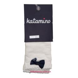 "Носки капроновые с узором для девочки тм""Katamino"" Seren темно-синий бантик"