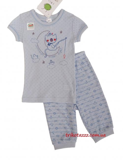"""Пижама для мальчика летняя тм""""Смил"""" котик-рыбак"""