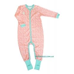 """Пижама-спальник для девочки тм""""Бонка"""" розовая карамель"""