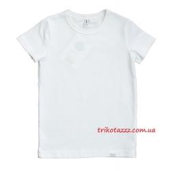"""Детская футболка для мальчика белая тм""""Смил"""" спортивная"""