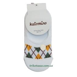 "Носки (следы) для мальчика тм""Katamino"" Ekose Erkek белые"