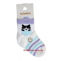 """Носки для девочки тм""""Arti"""" Pussycat фиолетовые"""