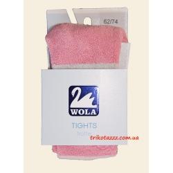 """Колготки махровые двусторонние для девочки тм """"Wola"""" розовые сполосками"""