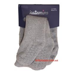 """Детские махровые колготки с тормозками тм""""Katamino"""" Benito ABS'li серые"""