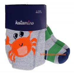 """Махровые колготки для мальчиков тм""""Katamino"""" Tropic Baby Крабик"""