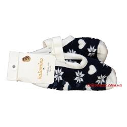 """Детские носки тапочки на девочек тм"""" Katamino """"  Winter Havlu синие"""