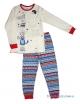 """Пижама со световым эффектом для девочки с легким начесом тм""""Смил"""" Котик на качелях серая"""