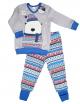 """Пижама для мальчика с светящим эффектом с легким начесом  тм""""Смил"""" Мишка серая"""