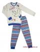 """Пижама для мальчика с светящим эффектом с легким начесом тм""""Смил"""" Мишка белая"""