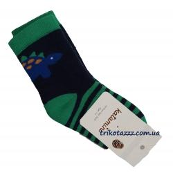 """Носки теплые зимние махровые для мальчика тм""""Katamino"""" , Dino зеленые"""
