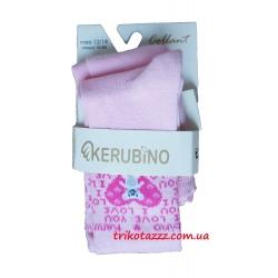 """Колготки для  девочки тм """"Kerubino"""" розовые с сердечком"""