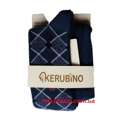 """Колготки для мальчика тм """"Kerubino"""" синие с ромбом"""