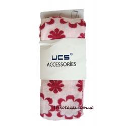 """Колготки для девочки тм""""UCS"""" цветы розовые с малиновым"""