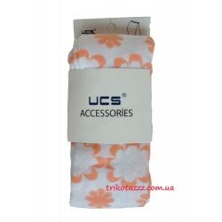 """Колготки для девочки тм""""UCS"""" цветы белые с оранжевым"""