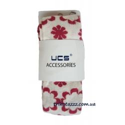 """Колготки для девочки тм""""UCS"""" цветы кремовые с малиновым"""