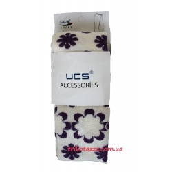 """Колготки для девочки тм""""UCS"""" цветы кремовые с фиолетовым"""