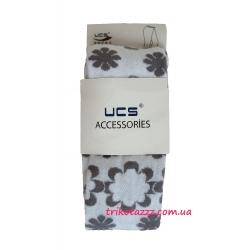 """Колготки для девочки тм""""UCS"""" цветы белые с серым"""