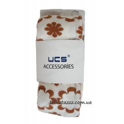 """Колготки для девочки тм""""UCS"""" цветы кремовые с ореховым"""