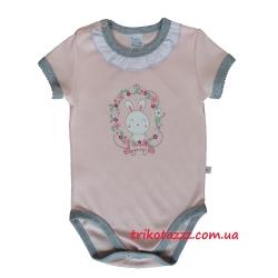 """Боди-футболка для девочки тм""""Смил"""" Маленький зайчик розовая"""
