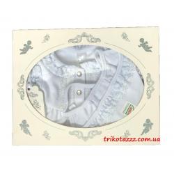 """Набор подарочный для новорожденной девочки в коробке 3 предмета тм""""Смил"""" белый"""