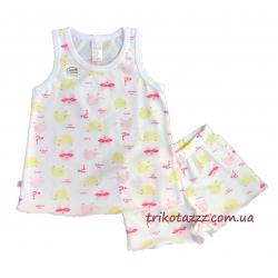 """Детская летняя пижама для девочки тм""""Смил"""" Маски розовые"""