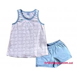 """Детская летняя пижама для девочки тм""""Смил"""" Каспер розовый"""