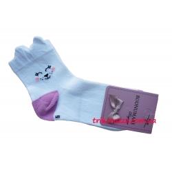 """Детские носки для девочки 3D тм""""Buonumare"""" лиловая пяточка"""