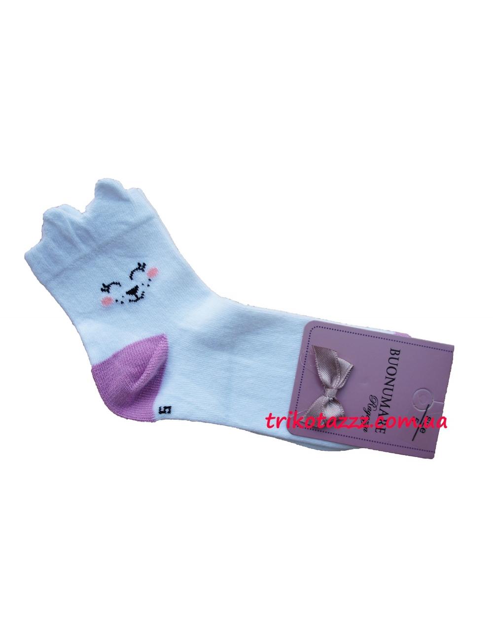 """Детские носки для девочки 3D  тм""""Buonumare"""" сиреневая пяточка"""