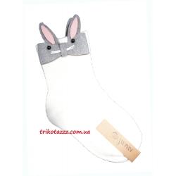 Детские носки для девочки Зайчики белые
