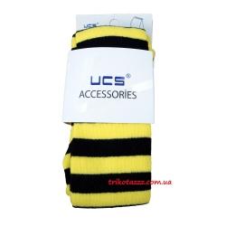 """Детские колготки  желтые в черную полоску тм""""UCS"""""""