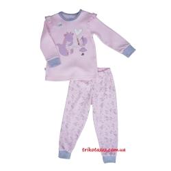 """Пижама детская для маленьких девочек  светящаяся в темноте с легким начесом  тм""""Смил"""" Фея розовая"""
