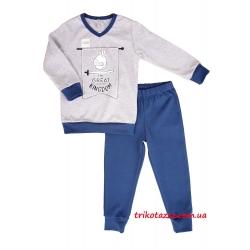 """Детская пижама для мальчиков (подростков) светящаяся в темноте тм""""Смил"""" Маленький рыцарь серый меланж"""
