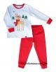 """Детская пижама с легким начесом тм""""Смил"""" Рождественские истории белая"""