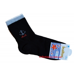 "Носки для мальчика синие тм""Inaltun"" с якорем"