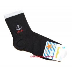 """Носки для мальчика черные тм""""Inaltun"""" с якорем"""