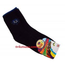 Теплые махровые носки для мальчиков черные