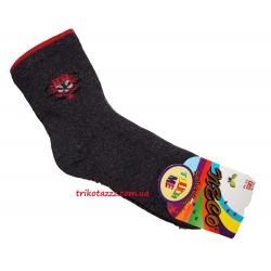 Теплые махровые носки для мальчиков темно-серые