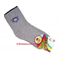 Теплые махровые носки для мальчиков серые