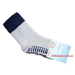 """Теплые носки для мальчиков с прорезиненной подошвой АВС тм """" Steven"""" серые"""