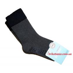 """Теплые носки для мальчиков с прорезиненной подошвой АВС тм """" Steven"""" черные"""