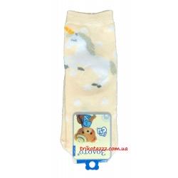 """Носки для девочек с единорогом тм""""Золото"""" абрикосовые"""
