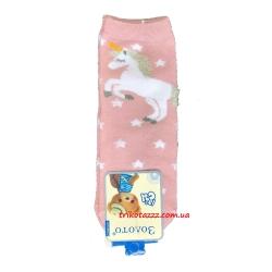 """Носки для девочек с единорогом тм""""Золото"""" розовые"""