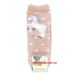 """Носки для девочек с единорогом тм""""Золото"""" телесные"""