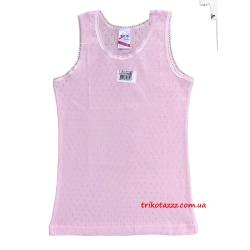 """Детская майка для девочки розовая ажурная тм""""Brix"""""""