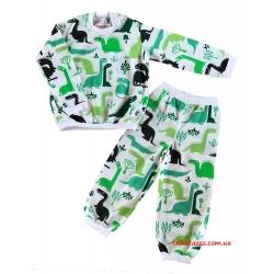 """Теплая детская пижама для мальчиков тм """" Наталина """" Дракончики"""