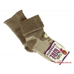 """Теплые носки для девочек Мишка тм""""Kidsbella"""" бежевые"""