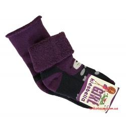 """Теплые носки для девочек Мишка тм""""Kidsbella"""" фиолетовые"""