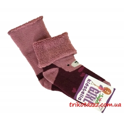 """Теплые носки для девочек Мишка тм""""Kidsbella"""" марсал"""